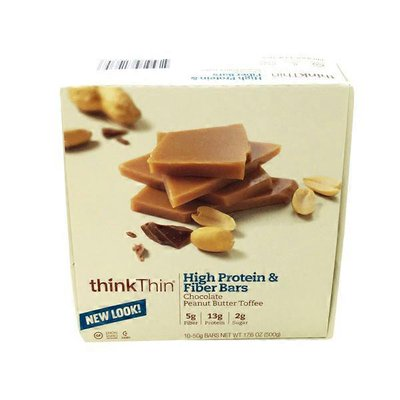 Think Thin Protein And Fiber Chocolate Peanut Butter Bar