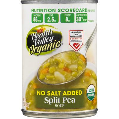 Health Valley Soup, No Salt Added, Split Pea