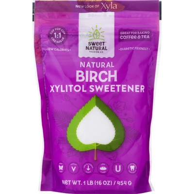Sweet Natural Trading Co. Xylitol Sweetener, Birch, Natural, Pouch