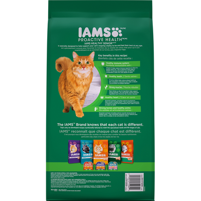 IAMS Cat Nutrition, Premium, Healthy Senior, with Chicken, Senior 11+ Years
