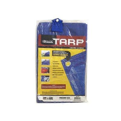 Bazic 4'X6' Blue All Purpose Tarp