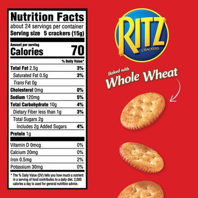 Ritz Whole Wheat Classic Crackers
