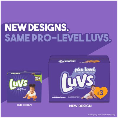 Luvs Pro Level Leak Protection Diapers Size 3