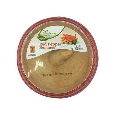 Simply Nature Red Pepper Organic Hummus