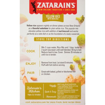 Zatarain's® Yellow Rice with Broccoli Rice Side