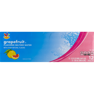 SB Flavored Seltzer Water Grapefruit