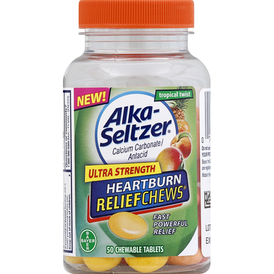 Alka-Seltzer Heartburn Relief, Ultra Strength, Tropical Twist, Chewable Tablets