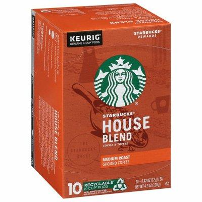 Starbucks Medium Roast K-Cup Coffee Pods — House Blend for Keurig Brewers