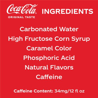 Coca-Cola Soda Soft Drink