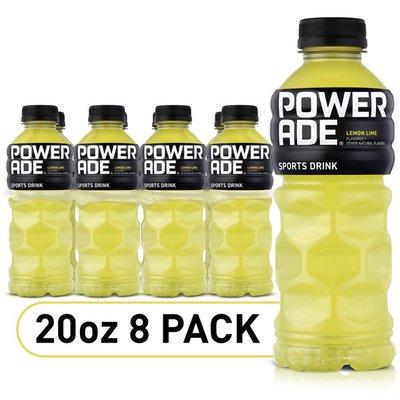 Powerade Electrolyte Enhanced Sports Drinks with vitamins, Lemon Lime