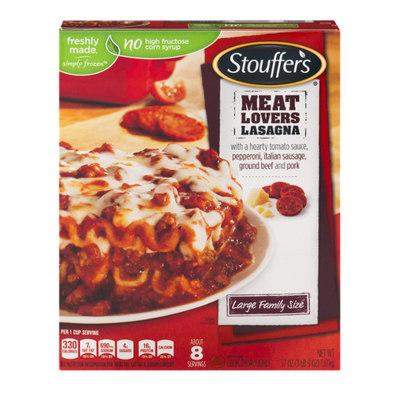 Stouffer's Large Family Size Meat Lovers Lasagna Frozen Meal