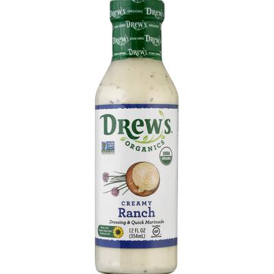 Drew's Organics Dressing & Quick Marinade, Creamy Ranch