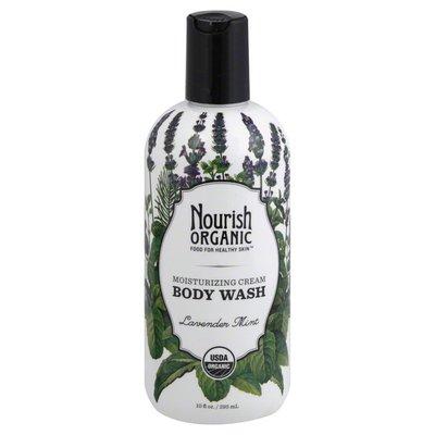 Nourish Organic Body Wash, Moisturizing Cream, Lavender Mint