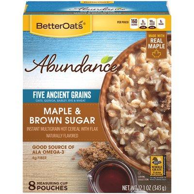 Better Oats Abundance Maple & Brown Sugar Instant Multigrain Hot Cereal