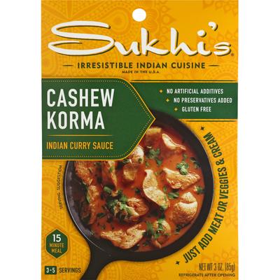 Sukhi's Indian Curry Sauce, Cashew Korma