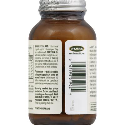 Flora Probiotic, Adult's, Vegetarian Capsules