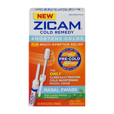 Zicam Cold Remedy, Medicated Nasal Swabs