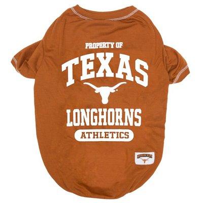 Pets First Small Collegiate Texas Longhorns Dog Tee Shirt