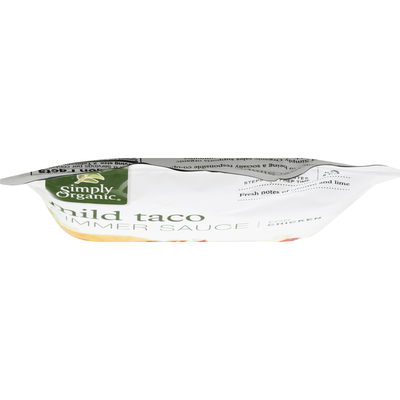 Simply Organic Simmer Sauce, for Chicken, Mild Taco