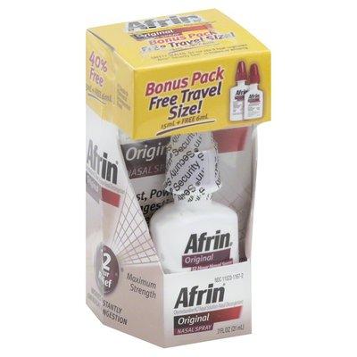 Afrin Nasal Spray, Original, Maximum Strength
