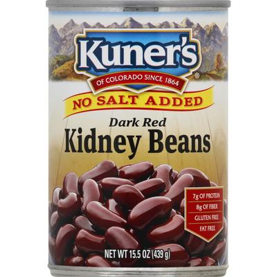 Kuners Kidney Beans, No Salt Added, Dark Red