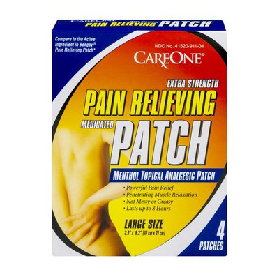 CareOne Extra Strength Pain Relieving Medicated Patch Large Size - 4 CT
