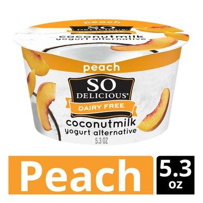 So Delicious Dairy Free Coconut Milk Peach Yogurt Alternative