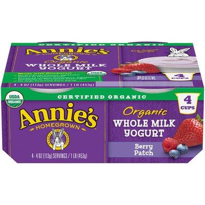 Annie's Organic Whole Milk Berry Patch Yogurt