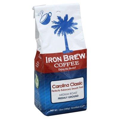 Iron Brew Coffee Coffee, Brazilian, Freshly Ground, Medium Roast, Carolina Classic