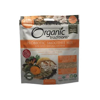 Organic Traditions Organic Lucuma Baobab Probiotic Smoothie Mix