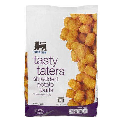 Food Lion Potato Puffs, Shredded, Tasty Taters