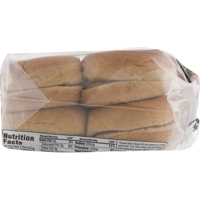 Schmidt's Old Tyme 100% Whole Wheat Hamburger Rolls - 8 CT