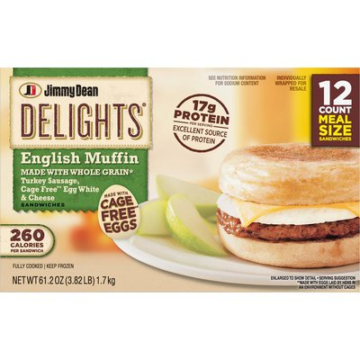 Jimmy Dean Turkey Sausage, Cage Free Egg White & Cheese English Muffin SANDWICHES