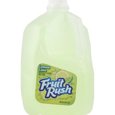 Fruit Rush Fruit Drink, Lemon Lime