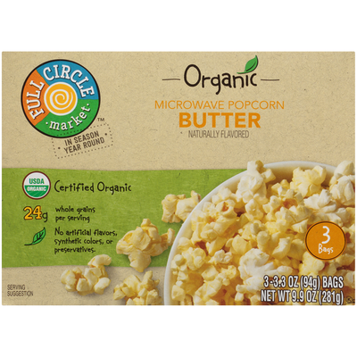 Full Circle Butter Microwave Popcorn