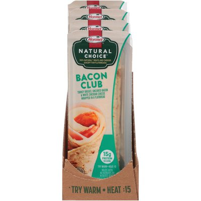 Hormel Natural Choice Bacon Club Wrapped in a Flatbread