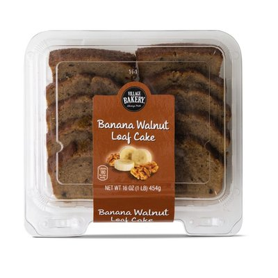Bake Shop Banana Nut Sliced Loaf Cakes