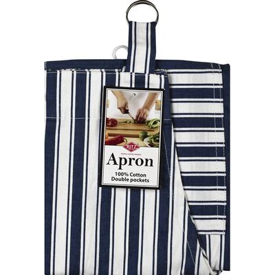 Ritz Apron, Stripe, Federal Blue