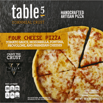 Table 5 Pizza, Cornmeal Crust, Four Cheese