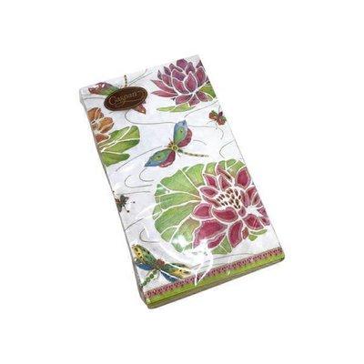 Caspari Jeweled Pond Ivory Guest Towel Napkins