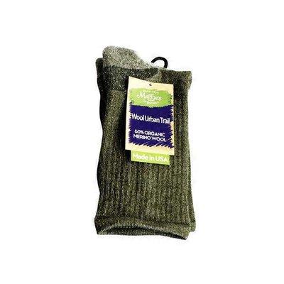 Maggie's Organics Green Wool Urban Trail Crew Socks