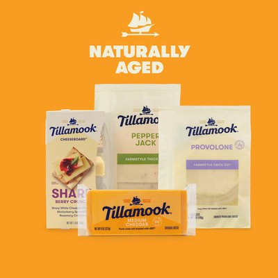 Tillamook Farmstyle Thick Cut Smoked Provolone Cheese Slices