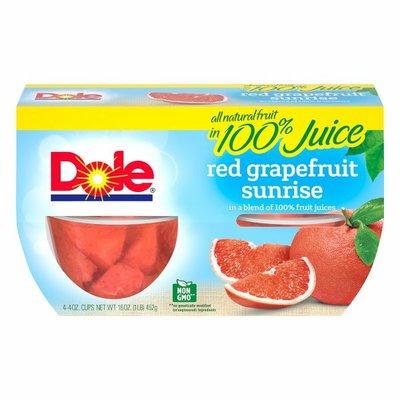Dole Red Grapefruit Sunrise, in a Blend of 100% Fruit Juices, Fruit Bowls