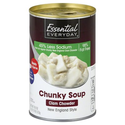 Essential Everyday Soup, Chunky, Clam Chowder, New England Style