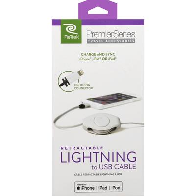 ReTrak Cable, Lightning to USB, Retractable
