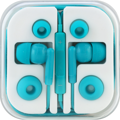 Hottips Earbuds, Stereo, with Remote & Mic, In Travel Case