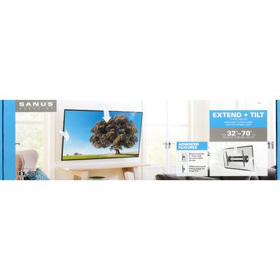 Sanus Vuepoint TV Wall Mount, Extend + Tilt, 32 Inch-70 Inch