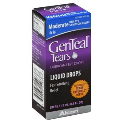 GenTeal Tears Lubricant Eye Drops Liquid Drops Moderate
