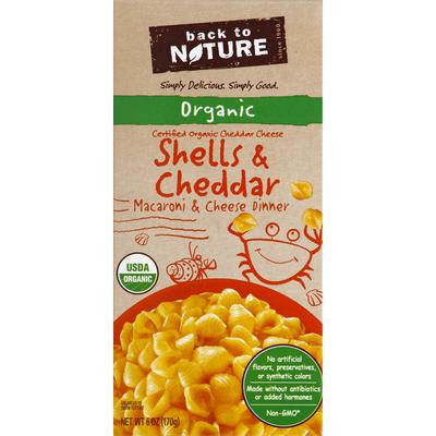 Back to Nature Shells & Cheddar Organic Macaroni & Cheese Dinner