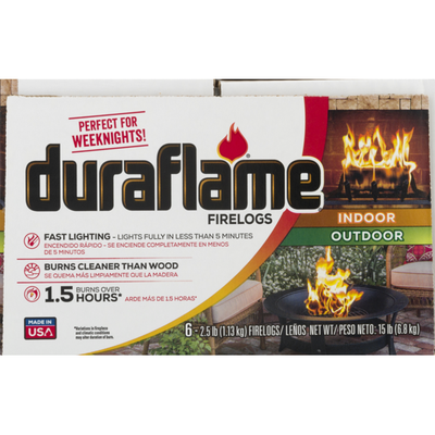 Duraflame duraflame 2.5lb Firelog 1.5-hr 6pk